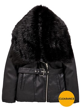 v-by-very-girls-longlinenbspbiker-jacket-with-faux-fur-trim