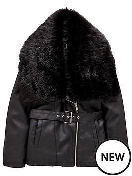v-by-very-girls-longlinenbspbiker-jacket-with-faux-fur-trim