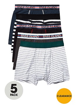 river-island-5-pack-sports-binding-trunks