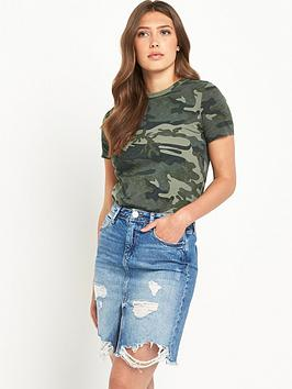 river-island-river-island-khaki-camo-print-fitted-t-shirt