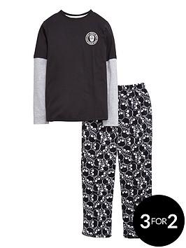 v-by-very-boys-skull-jersey-top-and-fleece-bottoms-pyjamasnbsp