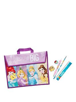 disney-princess-school-book-bag-amp-5-piece-stationery-set