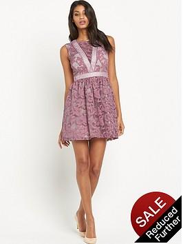 little-mistress-lace-skater-dress-rose