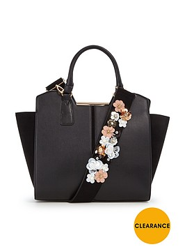 v-by-very-flower-embellished-tote