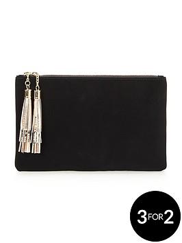 v-by-very-tassel-clutch-bag