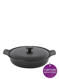 berghoff-ron-28cm-cast-iron-sauteuse-with-lid-in-black-pepper