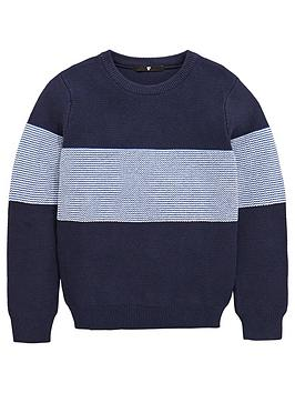 v-by-very-boys-knitted-crew-neck-stripe-jumper