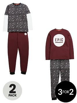 v-by-very-boys-epic-paint-print-pyjamas-2-pack