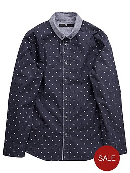 v-by-very-boys-dotted-geometric-shirt-with-denim-collar