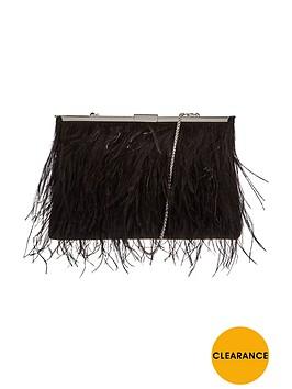coast-feather-clutch-bag-black