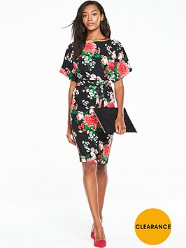 v-by-very-kimono-sleeve-printed-dress