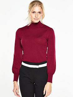 v-by-very-blouson-sleeve-roll-neck-jumpernbsp