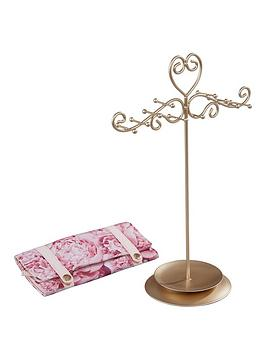 floral-bloom-floral-bloom-collection-jewellery-stand-amp-jewellery-roll-set