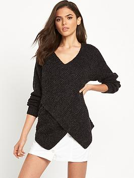 vila-vimatch-knit-top-black
