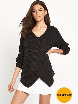 vila-vimatch-knit-top-black