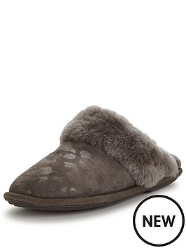 just-sheepskin-leopard-mule-slipper-with-gel-insole-grey