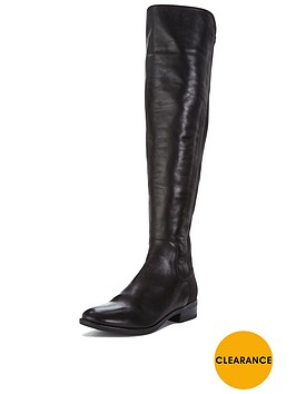 clarks-caddy-belle-leather-over-the-knee-boot-black