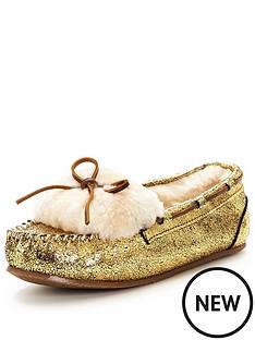 clarks-warm-glamour-cracked-gold-sheepskin-slipper-gold-metallic
