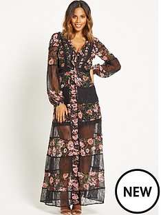 rochelle-humes-lace-and-print-insert-maxi-dressnbsp