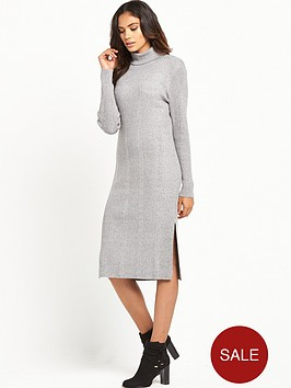 vero-moda-vero-moda-nimbo-ls-roll-neck-split-dress-grey