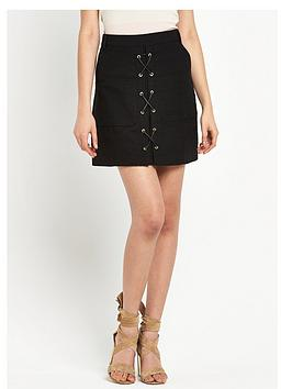 river-island-lace-up-mini-skirt