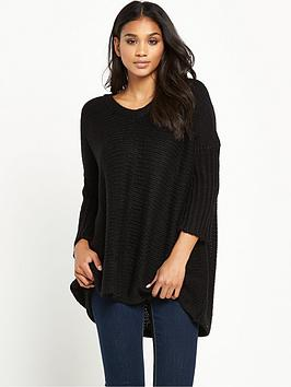 noisy-may-vera-34-sleeve-v-neck-jumper