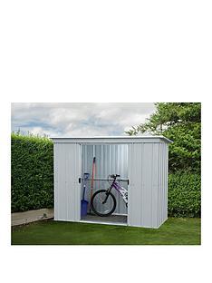 yardmaster-78-x-39ft-double-door-metal-pent-roof-shed-with-floor-frame