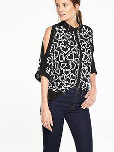 v-by-very-printed-cold-shoulder-blouse