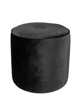 velvet-buttoned-stool