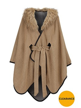 oasis-reversable-belted-fur-collar-wrap