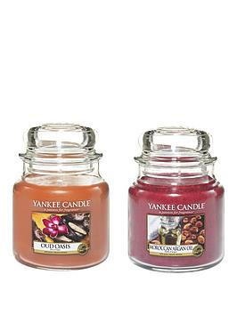yankee-candle-set-of-2-medium-jar-candles-ndash-oud-oasis-and-moroccan-argan-oil