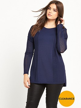 so-fabulous-airtexnbspcold-shoulder-fine-knit-jumper-midnight-blue