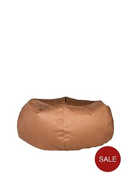 luxury-grace-faux-leather-pumpkin-beanbag