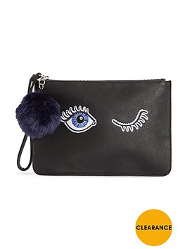 miss-selfridge-eye-clutch-bag