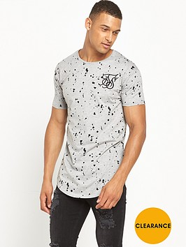 sik-silk-splat-curved-hem-t-shirt-grey-marl