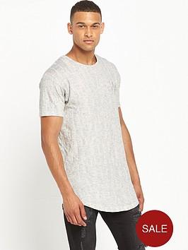 sik-silk-scratch-curved-hem-t-shirt-grey