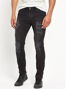 sik-silk-distressed-skinny-jean-black