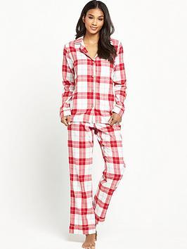 ugg-raven-cosy-plaid-flannel-pyjama-set-lipstick-red