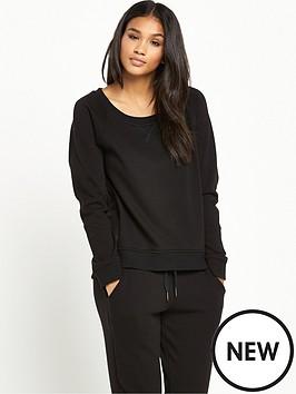 ugg-australia-morgan-lightweight-double-knit-fleece-top-black