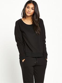 ugg-morgan-lightweight-double-knit-fleece-top-black