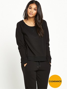 ugg-morgan-lightweight-double-knit-fleece-top-black