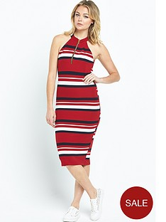 river-island-stripe-zip-neck-bodycon