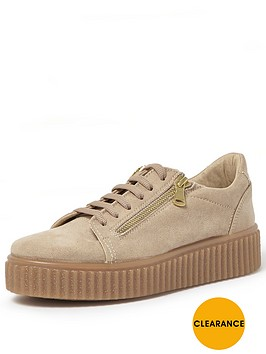 river-island-ribbed-sole-zip-side-trainernbsp