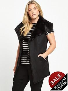 so-fabulous-suedette-fur-lined-gilet-black
