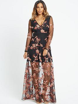 rochelle-humes-embroidered-maxi-dress