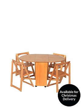 wooden-130-cm-butterfly-fold-away-dining-table-4-chairs