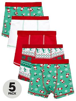 mini-v-by-very-boys-fairislenbspsanta-trunks-5-pack