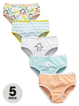 mini-v-by-very-girls-penguin-knickers-5-pack