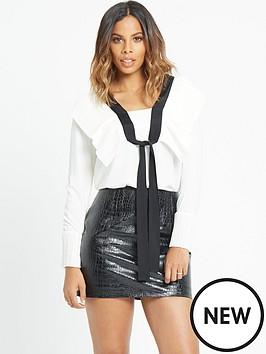 rochelle-humes-pleat-front-mono-tie-blouse