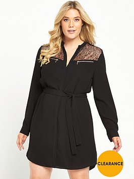 v-by-very-curve-zip-detail-shirt-dress